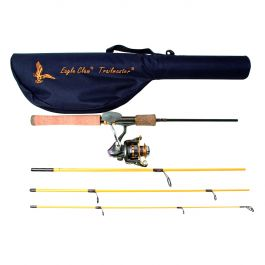 "4 Piece 6'6"" Trailmaster Spinning Combo"